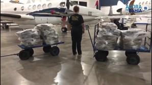 Avião Falcon 900B que transportava os 587 quilos de cocaína