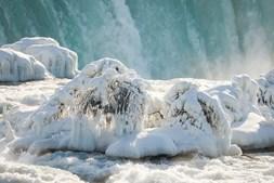 Temperaturas baixas criaram um verdadeiro 'reino do gelo'
