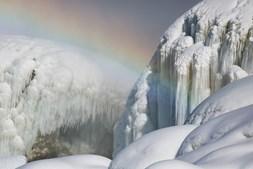 Temperaturas baixas provocaram um autêntico cenário gélido