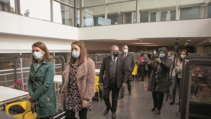 Autarca Manuel Machado visitou instalações para vacinação