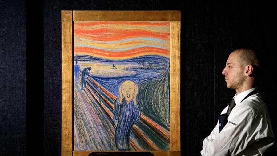 """""""Pintado por um louco"""": Edvard Munch escreveu uma mensagem em 'O Grito'"""