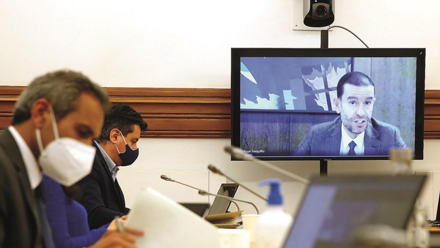 Miguel Frasquilho foi ouvido pelos deputados da Comissão Parlamentar de Economia por videoconferência