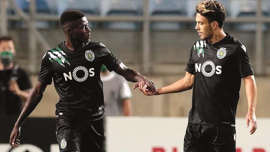 Nuno Mendes e Pedro Gonçalves (da esq. para a dir.) são os jogadores do Sporting com maior valor de mercado