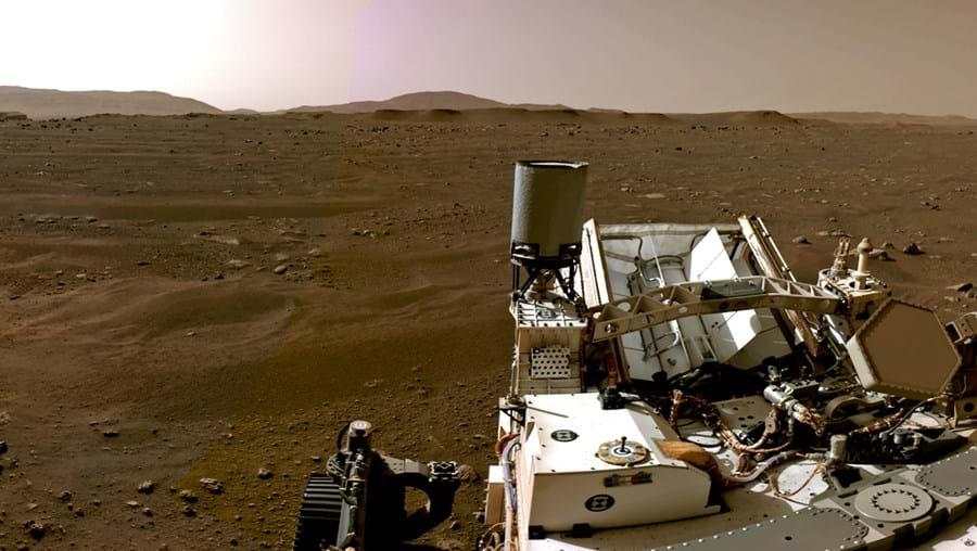 Robô Perseverance em Marte