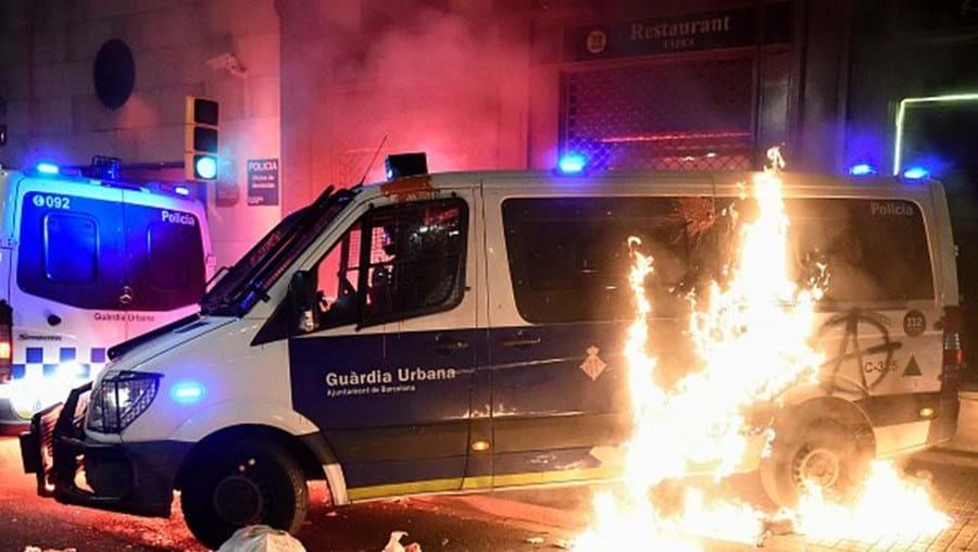 Distúrbios em Barcelona, Espanha