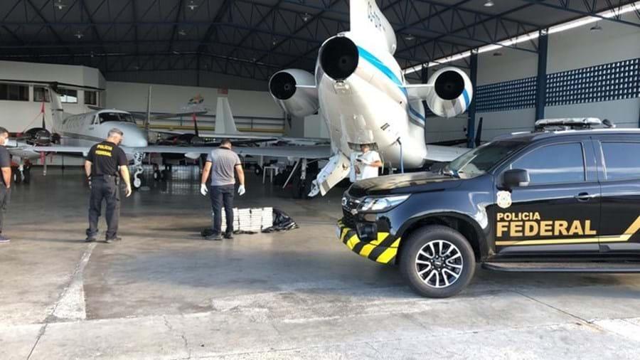 Aeronave onde foi apreendida a cocaína