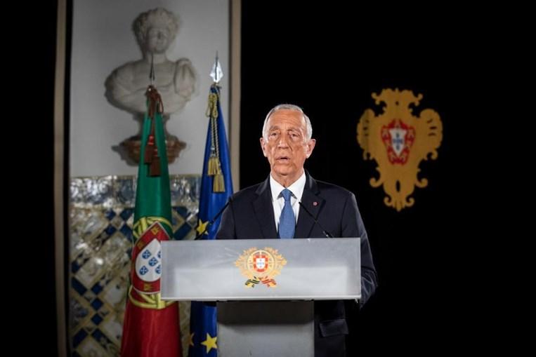 O Presidente da República, Marcelo Rebelo de Sousa, fala ao país sobre a renovação do estado de emergência no contexto do combate à covid-19 no Palácio de Belém, Lisboa, 25 de fevereiro de 2021.