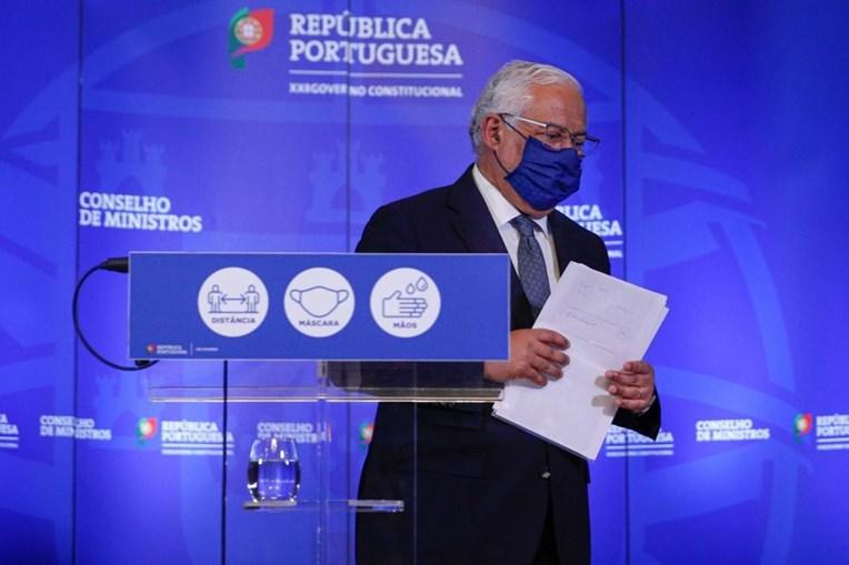 O primeiro-ministro, António Costa, durante o briefing da Reunião do Conselho de Ministros, no Palácio da Ajuda, em Lisboa, 26 de fevereiro de 2021