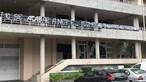 Tarja a ameaçar invasão de treino colocada junto à academia do Vitória de Guimarães. Veja as imagens