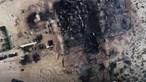 Restaurante de luxo em Faro reduzido a cinzas. Veja as imagens de drone
