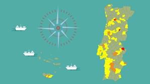 Já só há 3 concelhos em risco extremo e mais de 60% dos municípios estão em risco moderado devido à Covid-19