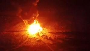 Incêndio destrói restaurante de luxo na Ilha Deserta em Faro. Veja as imagens