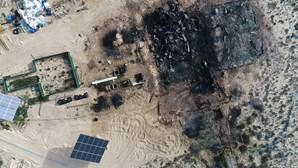 """""""Não sobrou nada"""": Proprietário de restaurante de luxo reduzido a cinzas em Faro estima prejuízo de um milhão de euros"""