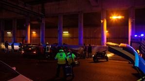 PSP investiga morte de condutor numa colisão violenta em túnel de Lisboa