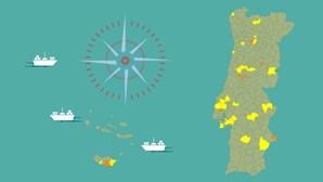 Portugal sem concelhos em risco extremo de infeção pela Covid-19. Veja como está o seu