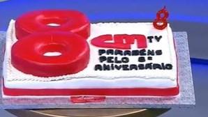 Toy canta os parabéns à CMTV no dia do 8.º aniversário do canal