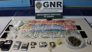 GNR detém quatro homens em Vila Nova de Milfontes por tráfico de droga