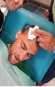 Bas Dost foi agredido com um cinto na cabeça