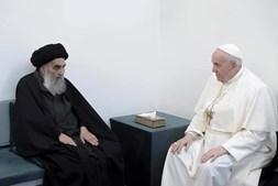 Econtro entre o Papa Francisco e Aitola al-Sistani