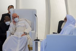 Papa Francisco em visita inédita