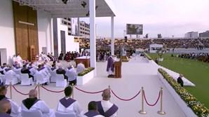 Papa Francisco celebra missa no Estádio Franso Hariri em Erbil, Iraque