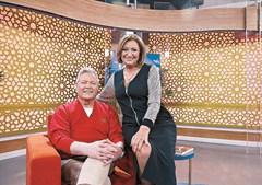 Marco Paulo com a apresentadora Maya na estreia do programa 'Tarde CM'