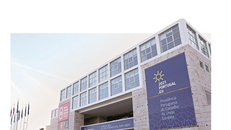 O Centro Cultural de Belém é a sede da presidência portuguesa da União Europeia