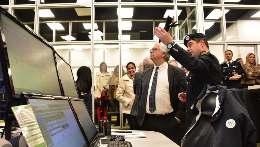 Ministro Eduardo Cabrita inaugurou em 2019 o edifício onde está a central do CDOS de Santarém