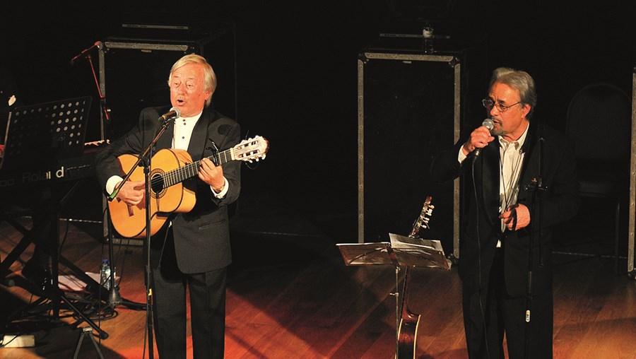 Carlos Costa (à esquerda na foto) com o irmão Júlio Costa, os dois fundadores do Trio Odemira