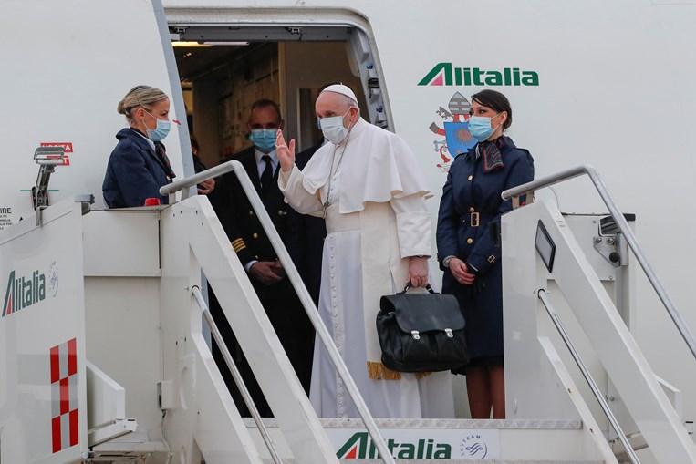 Papa Francisco, minutos antes de partir de Itália rumo ao Iraque