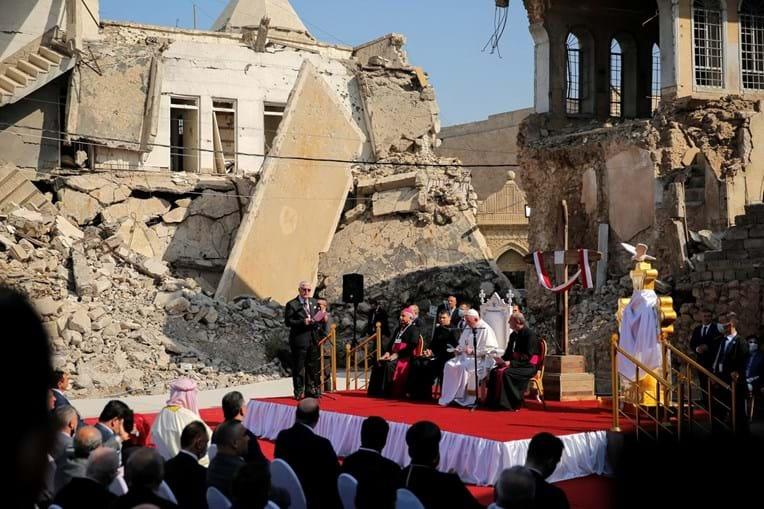 Papa disse em Mosul que a esperança nunca pode ser silenciada pelos que derramam sangue em nome de Deus