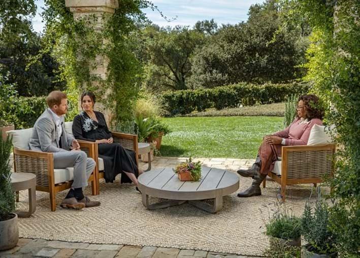 Príncipe Harry e Meghan em entrevista polémica a Oprah