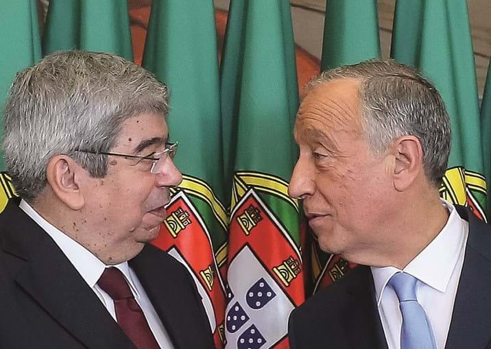 Ferro Rodrigues com Marcelo, após a tomada de posse