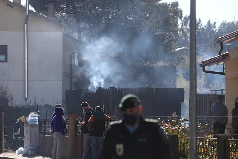 Incêndio em casa em Penacova