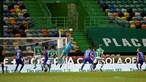 Erro defensivo do Sporting abre caminho a Mateo Cassierra que amplia vantagem do Belenenses SAD