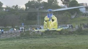 Ferido grave transportado de helicóptero de Moura para Hospital de São José
