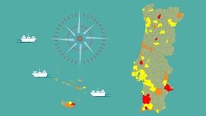 Incidência de Covid-19 sobe em mais de 100 concelhos na última semana de março. Veja como está o seu