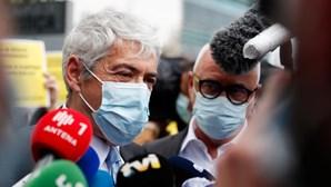 José Sócrates na chegada a tribunal antes da leitura da decisão na Operação Marquês