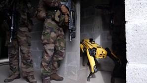Oitenta cadetes fazem treino militar com robôs em França