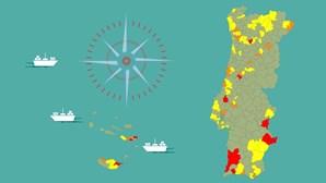 Incidência subiu em 118 concelhos, mas há 62 municípios sem qualquer caso em abril. Saiba se é o seu
