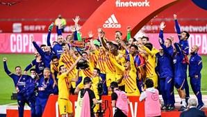 Barcelona conquista Taça do Rei de futebol. Messi 'bisa' e torna-se o maior goleador em finais
