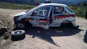 Dois pilotos feridos em despiste no Rally de Vieira do Minho