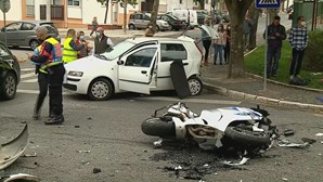 Acidente com mota e carro faz dois feridos graves em Beja