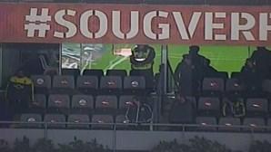 Novas imagens mostram nervosismo de Rúben Amorim na bancada do estádio do Sp. Braga
