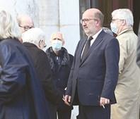 Ministro Matos Fernandes no funeral de Jorge Coelho