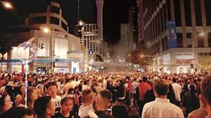 Festa  de passagem de ano em Auckland, na Nova Zelândia
