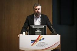 Ministro das Infraestruturas, Pedro Nuno Santos, no lançamento do plano