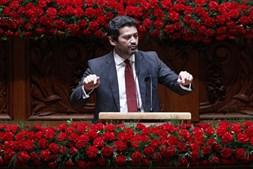 André Ventura nas comemorações do 25 de Abril no Parlamento