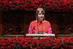 Mariana Silva nas comemorações do 25 de Abril no Parlamento