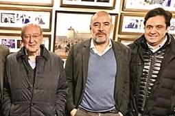Pedro Marques Lopes (ao centro) e Pedro Pinho (à dir.) num encontro com Pinto da Costa